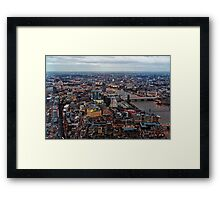Aerial View of London at Twilight, United Kingdom Framed Print