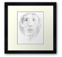 Tired Merlin Framed Print