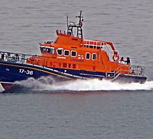 """ The new Penlee Lifeboat coming back from a shout she was a long way out"" by Malcolm Chant"