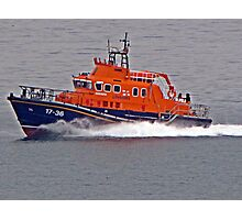 """"""" The new Penlee Lifeboat coming back from a shout she was a long way out"""" Photographic Print"""