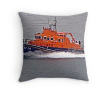 """"""" The new Penlee Lifeboat coming back from a shout she was a long way out"""" Throw Pillow"""
