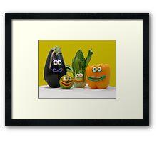 veggie tale  Framed Print
