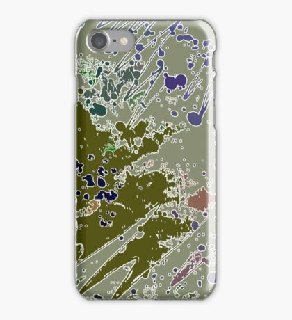 Cool Perspective - Green Olive, Sage & Blue iPhone Case/Skin