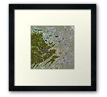 Cool Perspective - Green Olive, Sage & Blue Framed Print