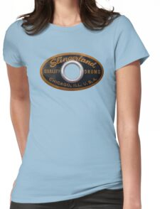 Slingerland Drum Badge Womens Fitted T-Shirt