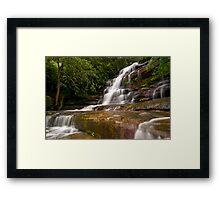 Somersby Falls after heavy rain Framed Print