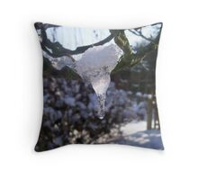 Slushicle  Throw Pillow