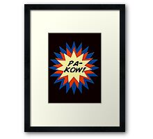 Pa-Kow Comic Exclamation Shirt Framed Print