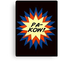 Pa-Kow Comic Exclamation Shirt Canvas Print