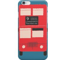 Red Double Decker Bus - Vintage London, England, UK iPhone Case/Skin