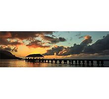 Hanalei Pier Sunset Panorama Photographic Print