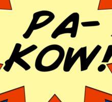 Pa-Kow Comic Exclamation Shirt Sticker