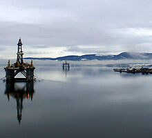Global Santa Fe Arctic II in the Cromarty Firth, NE Scotland. by Alex Young