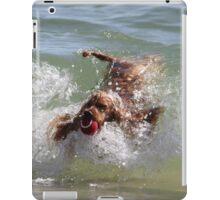 Myblondeheadedstompiewompierealgonesurfer-dog iPad Case/Skin