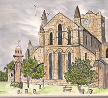 Hexham Abbey by GEORGE SANDERSON