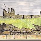 Dunstanborough Castle by GEORGE SANDERSON