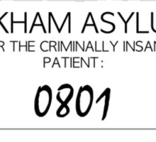 Joker's Arkham Asylum Shirt Sticker
