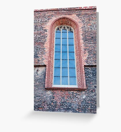 Gothic window. Greeting Card