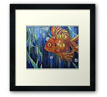 under the sea with a fish like me Framed Print
