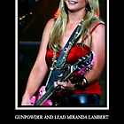 GUNPOWDER AND LEAD MIRANDA LAMBERT POSTER CONCERT STAGE PORTRAIT by wesbennett100