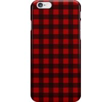 Black and Red Plaid iPhone Case/Skin