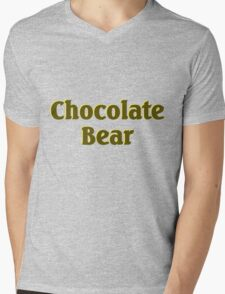 Scrubs Chocolate Bear Mens V-Neck T-Shirt