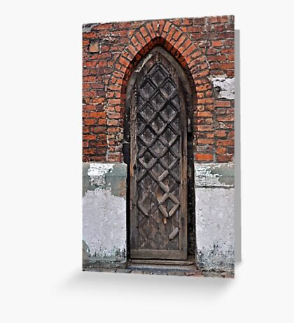 Gothic door. Greeting Card