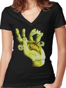 Pushing Up Daisies Women's Fitted V-Neck T-Shirt