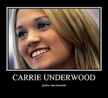 CARRIE UNDERWOOD PORTRAIT1 by wesbennett100