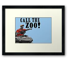 CALL THE ZOO! Framed Print