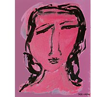 Lady In Pink Photographic Print