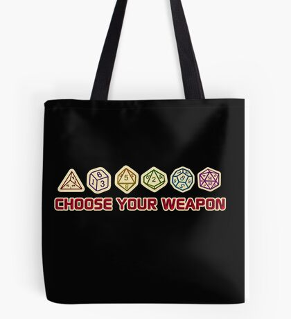Dungeons And Dragons Choose Your Weapon Tote Bag