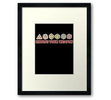 Dungeons And Dragons Choose Your Weapon Framed Print
