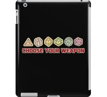Dungeons And Dragons Choose Your Weapon iPad Case/Skin