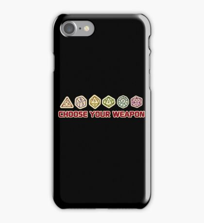 Dungeons And Dragons Choose Your Weapon iPhone Case/Skin