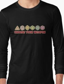 Dungeons And Dragons Choose Your Weapon Long Sleeve T-Shirt