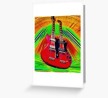 Jimmy Page SG 6/12 Greeting Card