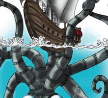 Steampunk Cyberpunk kraken Sticker