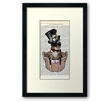 Vintage Steampunk Cat Framed Print
