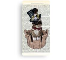 Vintage Steampunk Cat Canvas Print