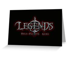 Legends Logo Greeting Card
