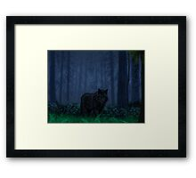The Timber Wolf Framed Print