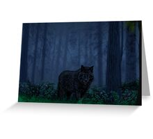 The Timber Wolf Greeting Card
