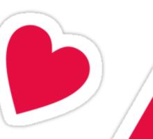 Ace Hole Poker Hearts Sticker