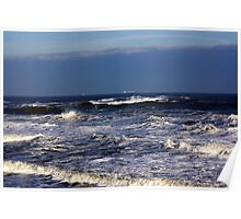 North Sea off Sandsend,North Yorkshire. Poster