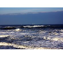 North Sea off Sandsend,North Yorkshire. Photographic Print