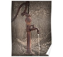 Antique Water Pump Poster