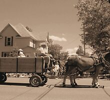 horse and wagon by Todd Fringer