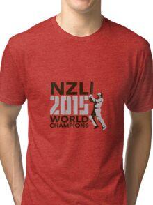 New Zealand NZ Cricket 2015 World Champions Tri-blend T-Shirt
