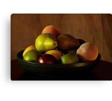 Precious Fruit Bowl Canvas Print